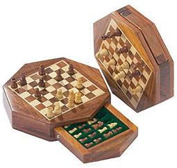 Philos-Spiele Schach-Reisespiel Octagon mini (2...