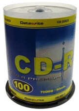 Datawrite CD-R 700MB 80min 52x 100er Spindel
