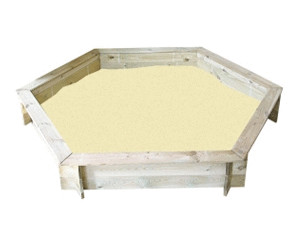 jardipolys bac sable hexagonal au meilleur prix sur. Black Bedroom Furniture Sets. Home Design Ideas