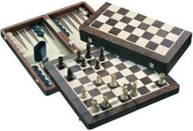 Philos-Spiele Schach-Backgammon-Dame-Set (2520)