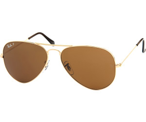 Rb3025 Aviator Large Metal 001/57 Gold Crystal Brown Polarized 62/14 140 RJQWfSxwck