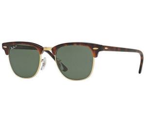 Ray Ban Ray-Ban Sonnenbrille »clubmaster Folding Rb2176«, Braun, 990 - Braun/grün