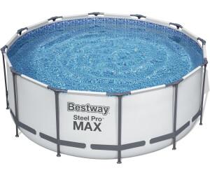 bestway steel frame pool 366 x 122 cm mit kartuschenfilter 56420 ab 299 00 preisvergleich. Black Bedroom Furniture Sets. Home Design Ideas