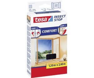 tesa® Fliegengitter Klettband Comfort für bodentiefe Fenster schw 1,2x2,4m 55918