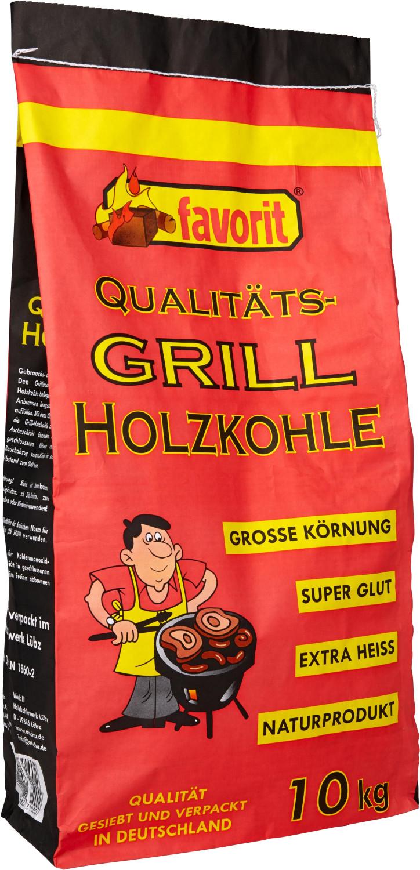 Favorit Qualitäts-Grill Holzkohle 10 kg