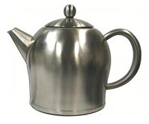 doppelwandige Teekanne Minuet/® Santhee Edelstahl hochglanzpoliert 0,5 ltr.