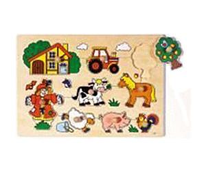 Steckpuzzle Bauernhof VI Goki 57995