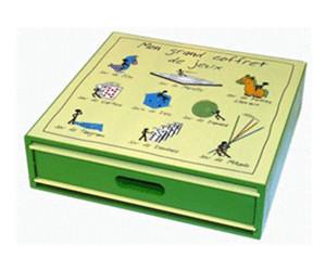 grand coffret de jeux en bois au meilleur prix sur. Black Bedroom Furniture Sets. Home Design Ideas