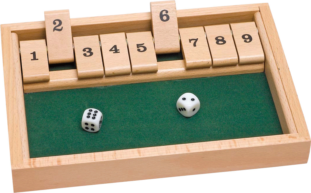 SHUT THE BOX TRADITIONAL BOARD GAME