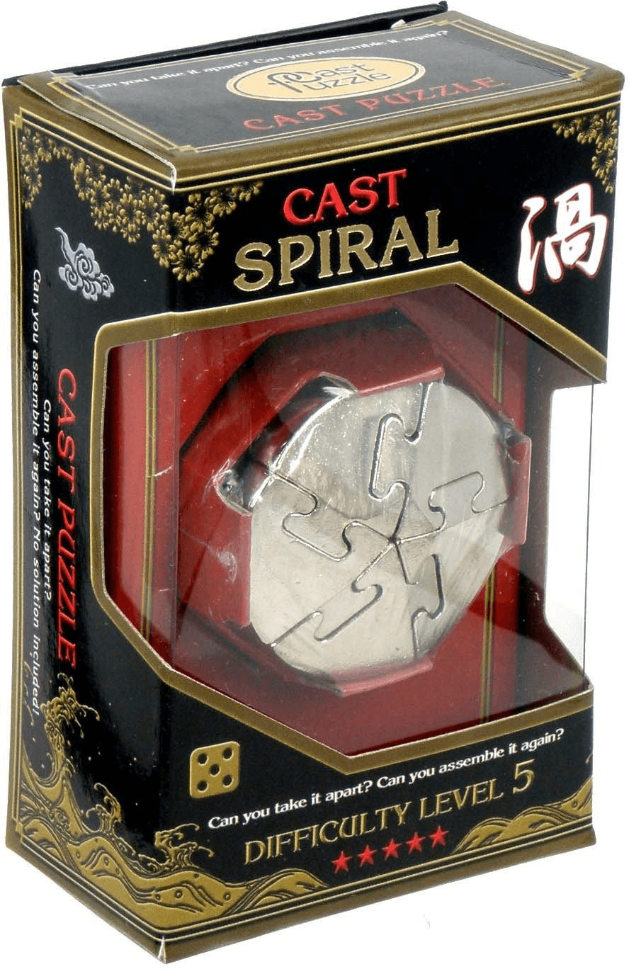 Metallpuzzle Level 5 Spiral