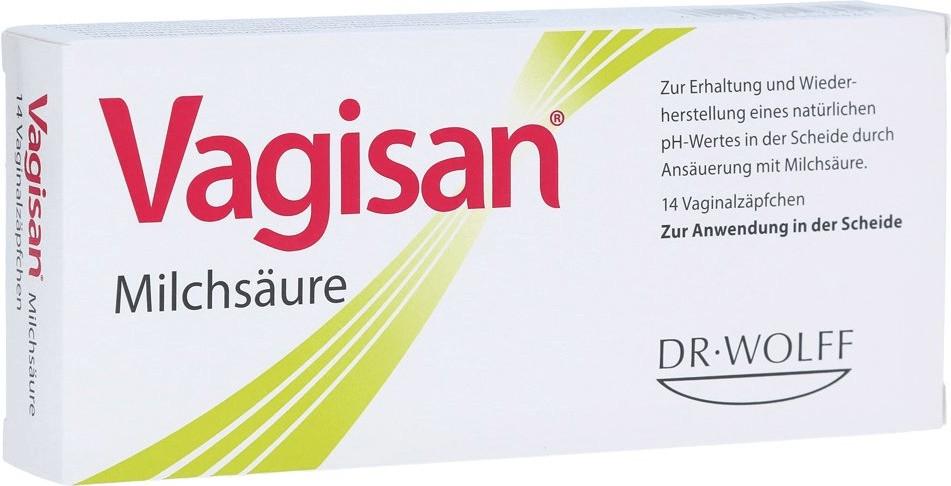 Vagisan Milchsaeure Vaginalzäpfchen (14 Stk.)