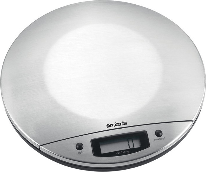 Image of Brabantia Matt Steel Digital Kitchen Scales