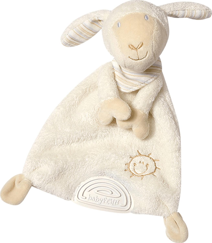 Fehn Baby Love Schmusetuch mit Softbeißer Schaf Paul 27 cm