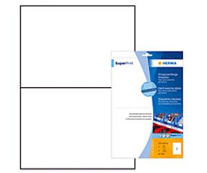 weiß 50 Stk. selbstklebend Folienetiketten A4 Bogen 210 x 148 mm Polyester