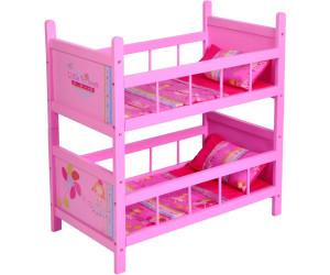 Puppenetagenbett Weiß : Knorrtoys puppenetagenbett my little princess pink ab