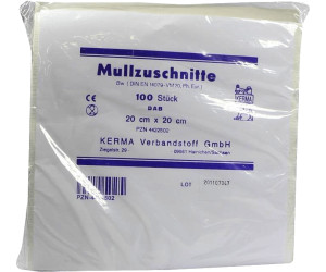 Kerma Mullzuschnitte Bw Unsteril 20 x 20 cm (100 Stk.)