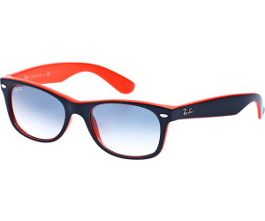 Ray-Ban New Wayfarer RB2132 789 3F (bleu-orange bleu dégradé) au ... f6fc9534c4bc