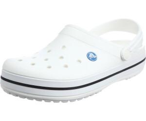 crocs Crocband Clogs Unisex White Größe 46-47 2018 Sandalen Yn9Dz