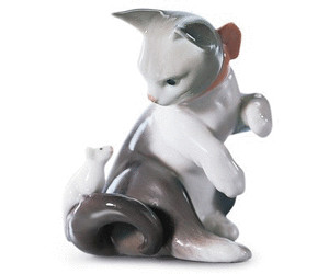 Lladro Cat & Mouse