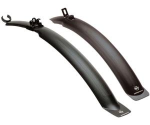Fahrrad Steck Blech Set 26 Zoll schwarz mit Spritzschutz ca 60 mm