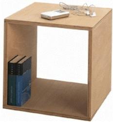 Tojo Cube Nachttisch | Schlafzimmer > Nachttische | Holz - Geölt