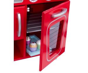 kidkraft cuisine vintage rouge 53156 au meilleur prix sur. Black Bedroom Furniture Sets. Home Design Ideas