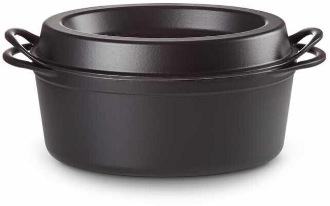 Le Creuset Doufeu Bräter Oval 35 cm schwarz