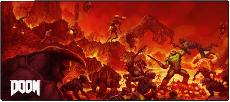 Image of Gaya Entertainment Doom Oversize Mousepad Retro