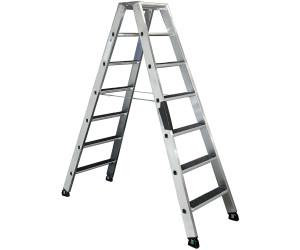 Günzburger Steigtechnik Aluminium-Stufen-Stehleiter beidseitig begehbar 2 x 6 St