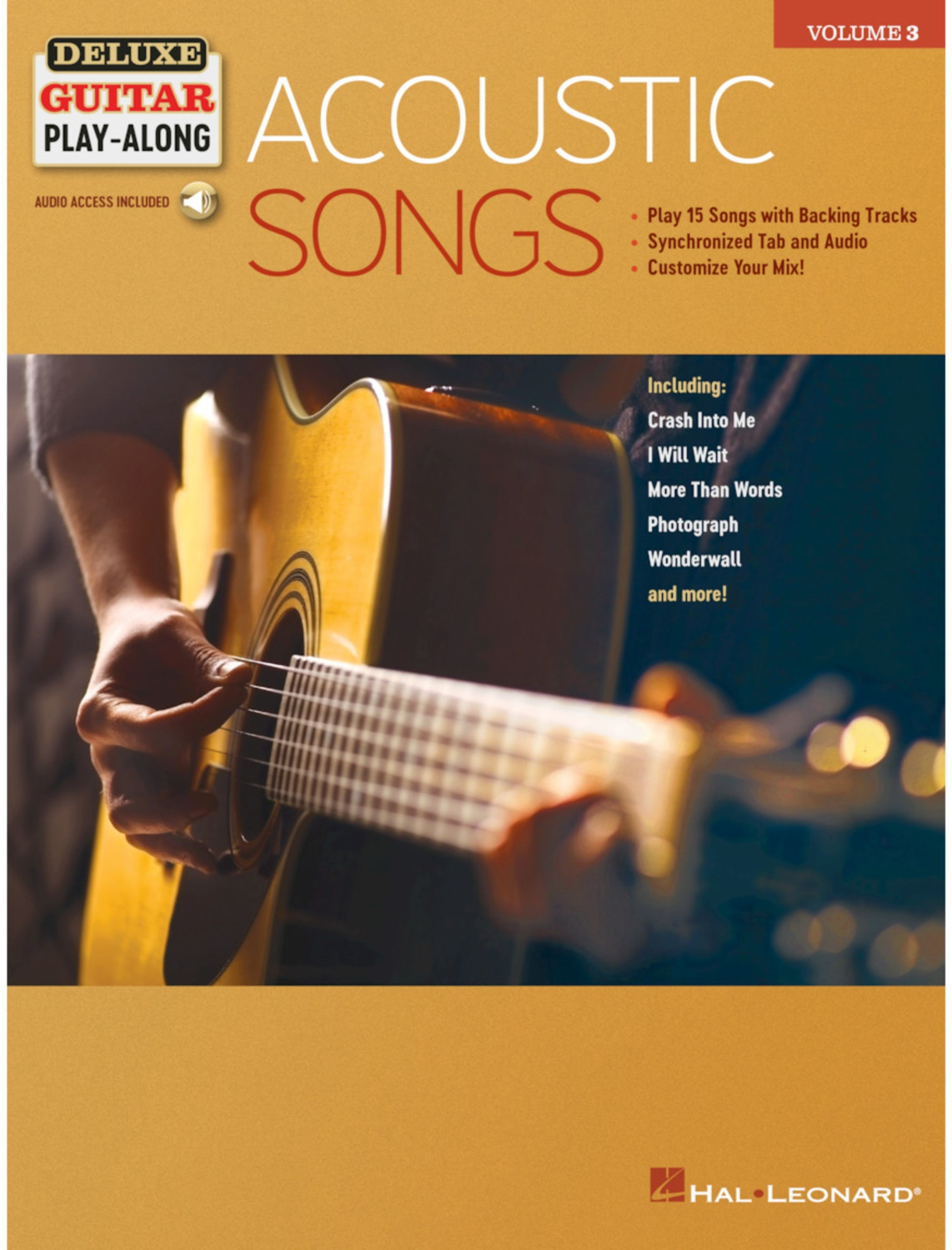Image of Hal Leonard Acoustic Songs Deluxe Guitar Play-Along Volume 3