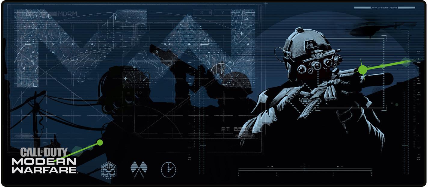 Image of Gaya Entertainment Call of Duty Modern Warfare Oversize Mousepad In Sight