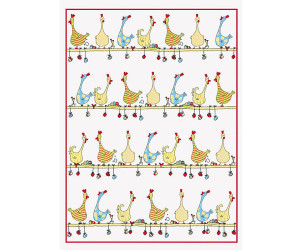 Kracht Geschirrtuch Set 2-teilig Hühner 50 x 50 cm
