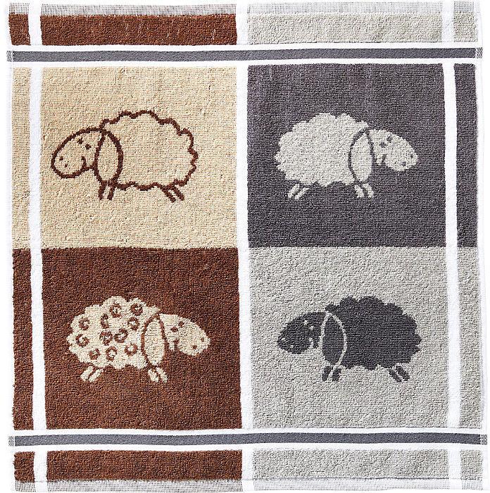 Kracht Geschirrtuch Set 2-teilig Schafe 50 x 50 cm