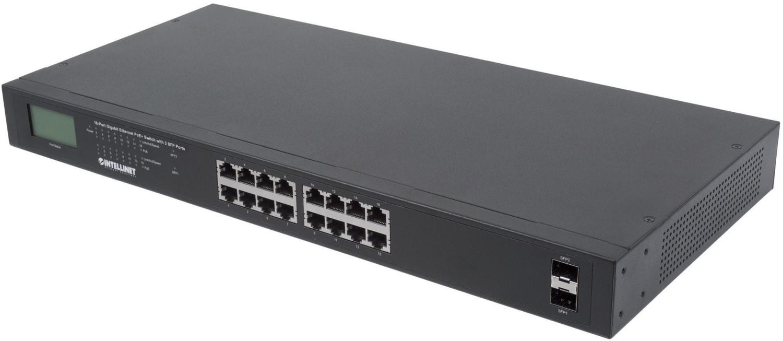 Image of Intellinet 16-Port Gigabit PoE+ Switch (561259)
