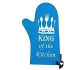 St Barth Topfhandschuh blau Backofenhandschuh Ofen Handschuh Topflappen 31 x 15