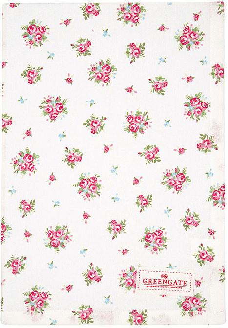 Greengate Abigail Geschirrtuch white 50 x 70 cm