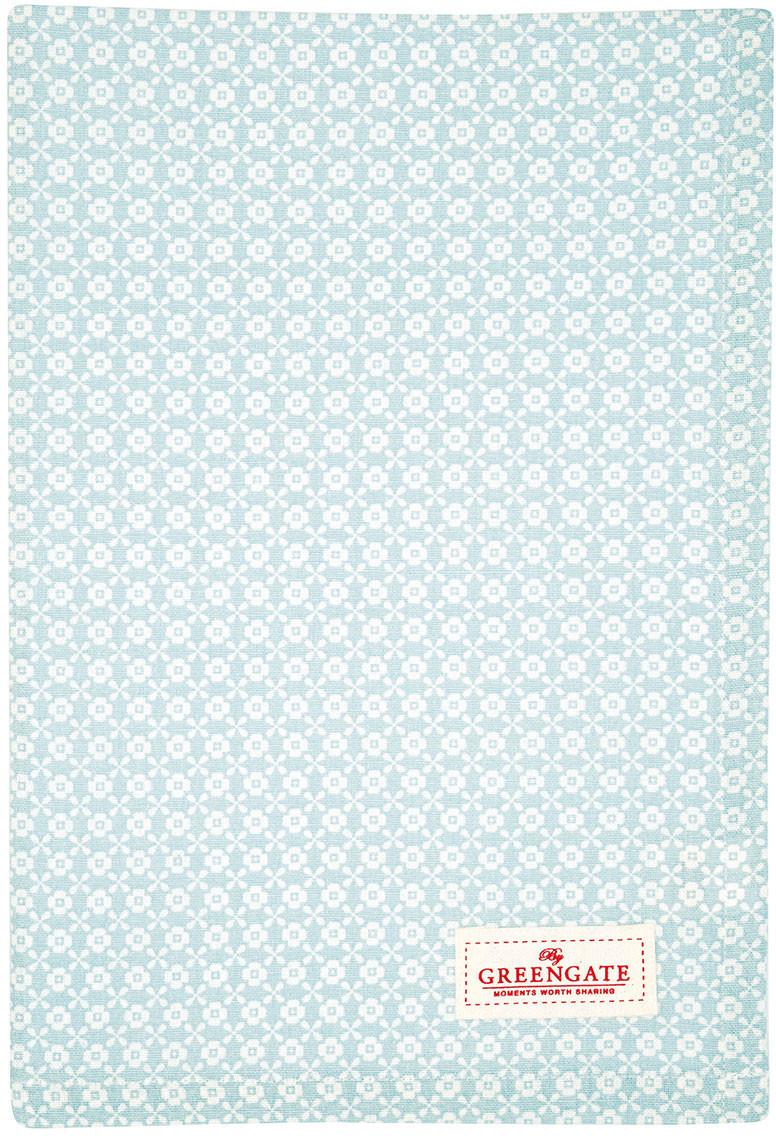 Greengate Helle Geschirrtuch pale blue 70 x 50 cm
