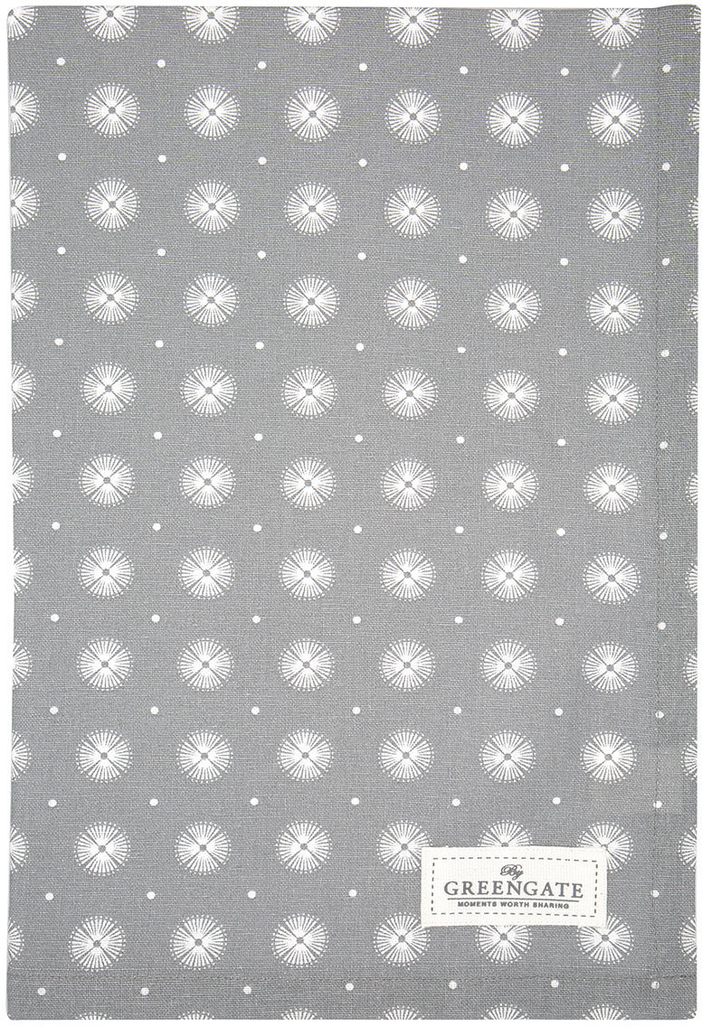 Greengate Saga Geschirrtuch warm grey 70 x 50 cm