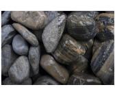 Moräne Flusskiesel 500 kg  Kieselstein Kiesel beige braun bunt
