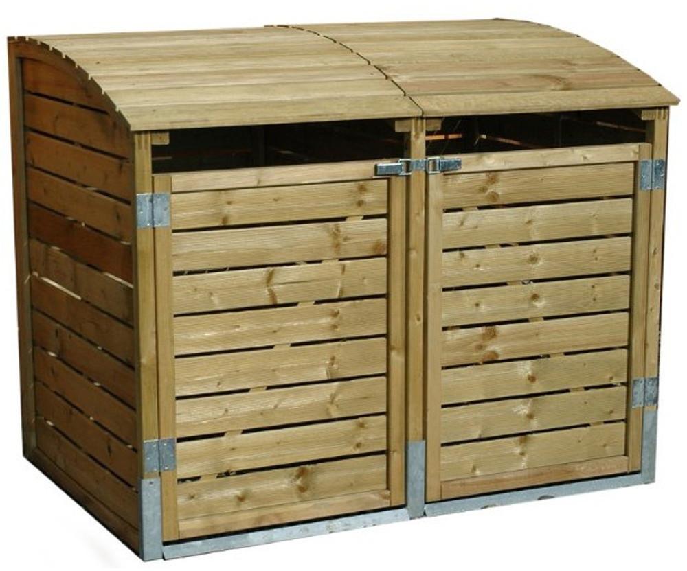Demmelhuber Mülltonnenbox LEO 2 x 240 Liter