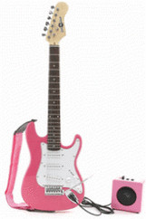 Image of Gear4music 3/4 Electric-ST Guitar + Miniamp