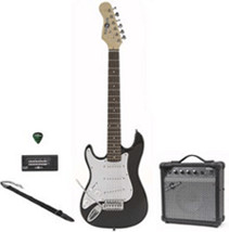 Image of Gear4music 3/4 Electric-ST Guitar + Amp Pack LH