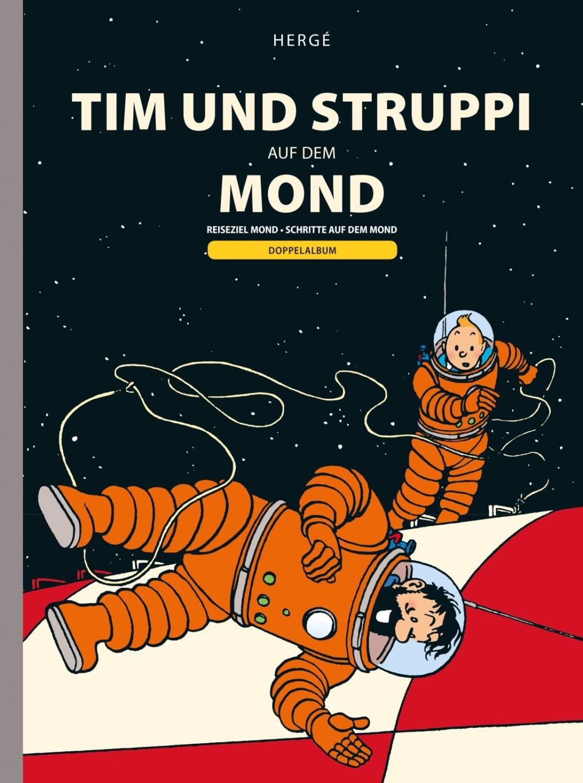 #Tim und Struppi Tim und Struppi auf dem Mond Doppelband zur Mondlandung#
