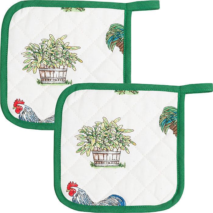 Kracht Topflappen Set 2-teilig grün 20 x 20 cm