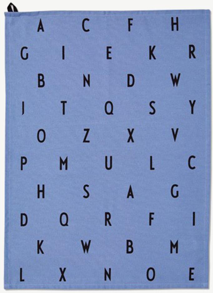 Design Letters Geschirrtuch AJ Vintage Abc blau