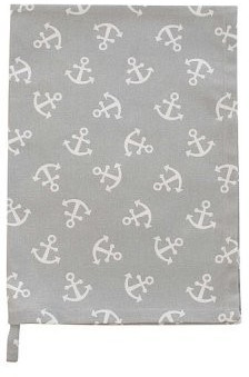 Krasilnikoff Geschirrtuch Anchor All Over Grey (Kw0339)