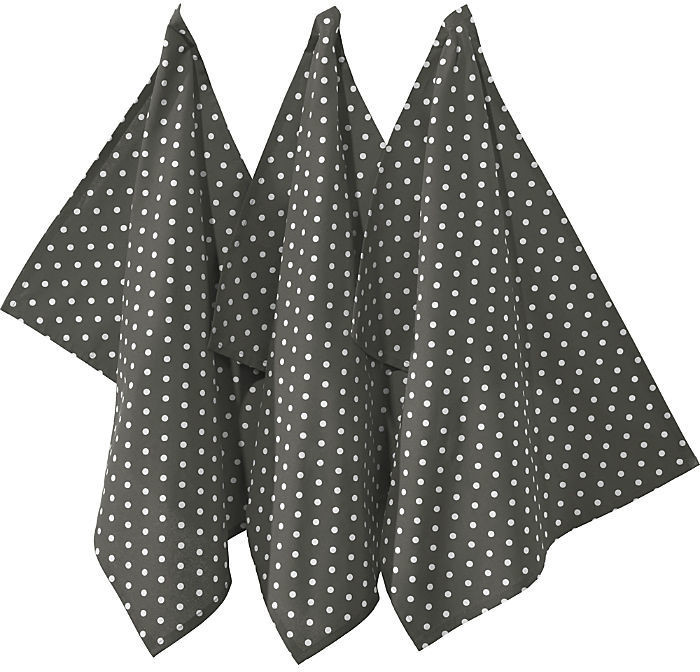 REDBEST Geschirrtuch Set 3-teilig 50 x 70 cm grau