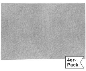 Gilde Filz Tischset im 4er-Pack grau 30x45 cm