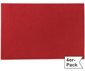 Gilde Filz Tischset im 4er-Pack rot 30x45 cm