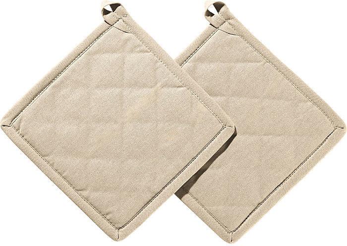 REDBEST Topflappen Set 2-teilig 20 x 20 cm braun-beige